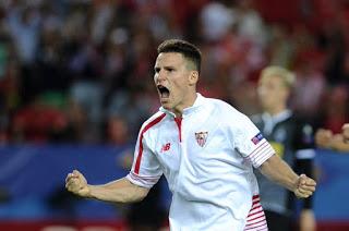 Sevilla 2-Málaga 1. Jornada 20 Liga Española
