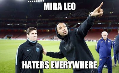 meme haters everywhere messi henry barcelona arsenal