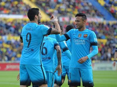 Las Palmas 1-Barcelona 2. Jornada 25 Liga Española