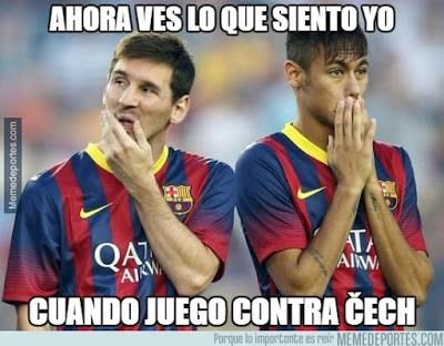 Los memes del Arsenal-Barcelona más divertidos: Octavos Champions messi cech