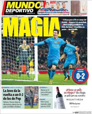 Portada Mundo Deportivo: Leo Magia messi