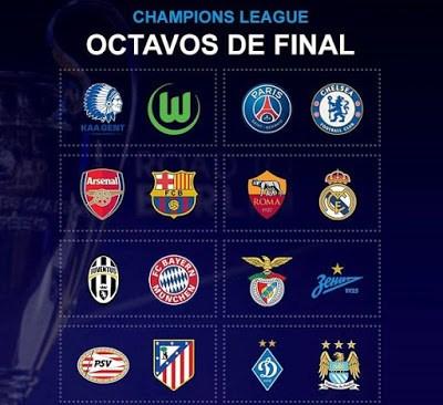 Octavos Champions League 2016. Partidos de ida