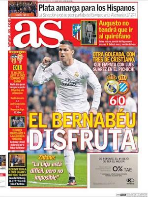 Portada As: el Bernabéu disfruta
