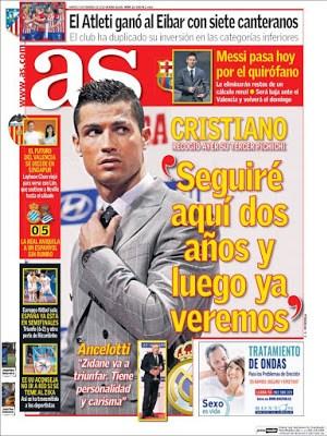 Portada AS: Cristiano Ronaldo pichichi