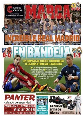 Portada Marca: La Liga en bandeja para el Barça