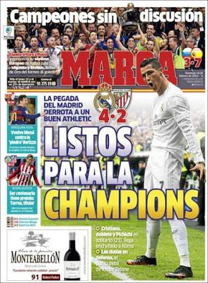 Portada Marca: Madrid listo para la Champions