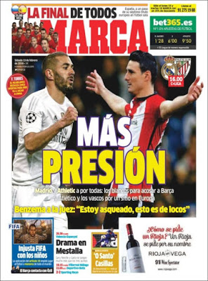 Portada Marca: más presión real madrid athletic