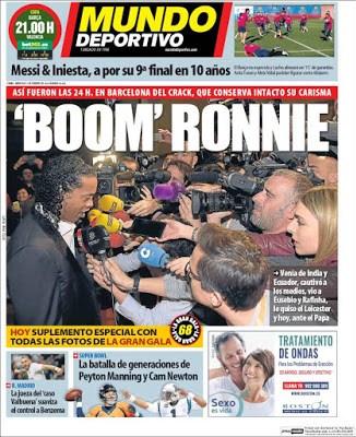 Portada Mundo Deportivo: Boom Roonie