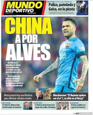 Portada Mundo Deportivo: China a por Alves