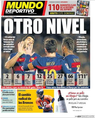 Portada Mundo Deportivo: el Barça a otro nivel