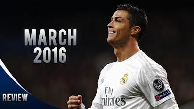 Cristiano Ronaldo: Marzo 2016. Goles y asistencias