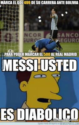 Los Memes más divertidos Barcelona-Real Madrid: la previa del clásico messi gol 500