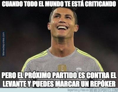 Los memes del Levante-Real Madrid más divertidos. Liga BBVA cristiano ronaldo