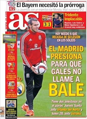 Portada AS: Gareth Bale