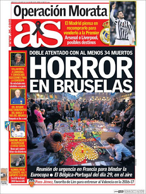 Portada AS: Horror en Bruselas