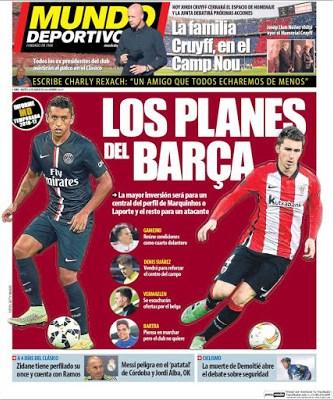 Portada Mundo Deportivo: los planes del Barça