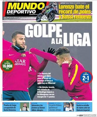 Portada Mundo Deportivo: Golpe a La Liga