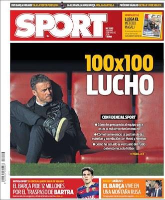 Portada Sport: 100x100 lucho
