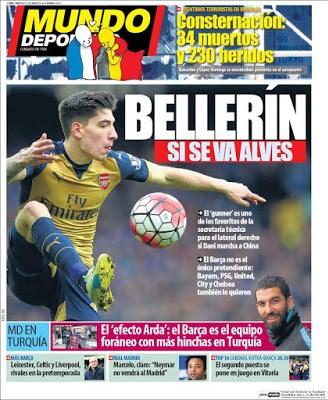 Portada Mundo Deportivo: Bellerín