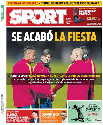 Portada Sport: se acabó la fiesta