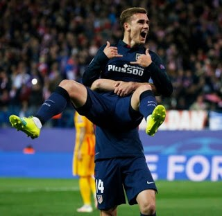 Griezmann festeja el primer gol atletico barcelona champions 2016
