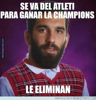 Los memes del Atlético Madrid-Barcelona más divertidos: Cuartos Champions arda turan