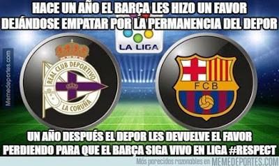 Los memes del Deportivo-Barcelona más divertidos. Liga BBVA