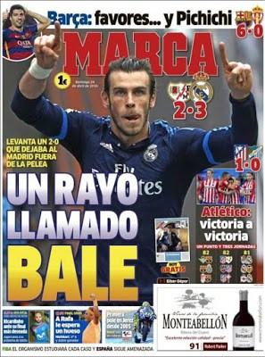 Portada Marca: un Rayo llamado Bale