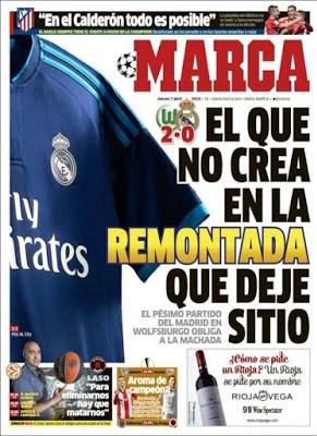 Portada Marca: Remontada en el Bernabéu
