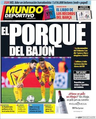 Portada Mundo Deportivo: El porqué del bajón