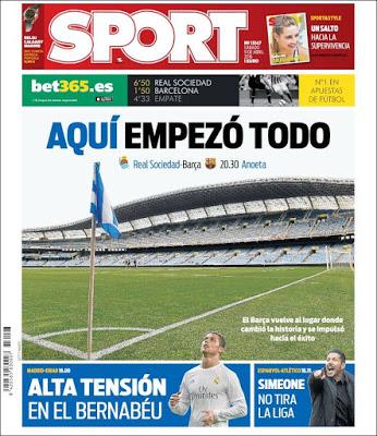Portada Sport: Aquí empezó todo