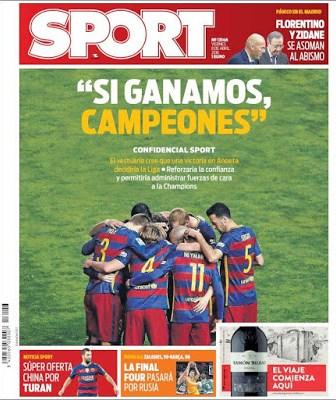 Portada Sport: Si ganamos, campeones