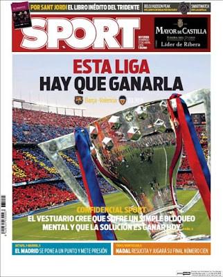 Portada Sport: Esta liga hay que ganarla