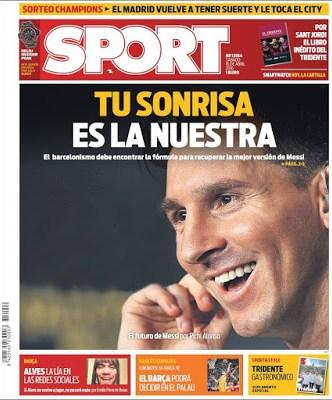 Portada Sport: Leo Messi, tu sonrisa es la nuestra