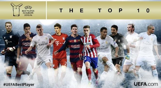 Uefa Best Player 2016 nominados