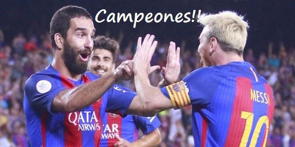 Barcelona Campeón Supercopa 2016