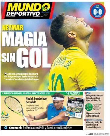 portada-mundo-deportivo-juegos-olimpicos-rio-2016