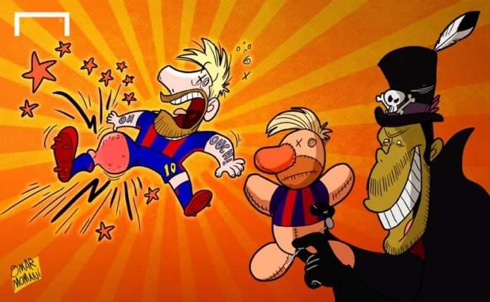 Memes Barcelona-Atlético 2016 messi lesion