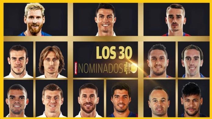 30 Candidatos Balón de Oro 2016