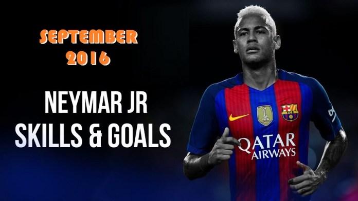 Neymar Septiembre 2016