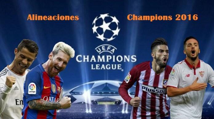 Alineaciones Jornada 3 Champions