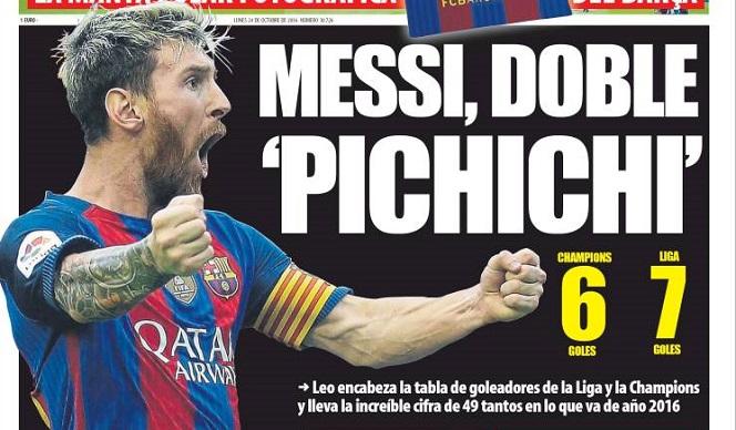 Messi doble pichichi