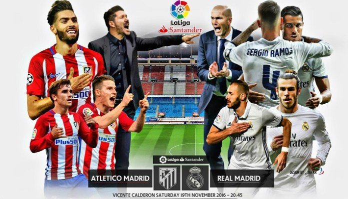 Alineación Atletico-Real Madrid Jornada 12