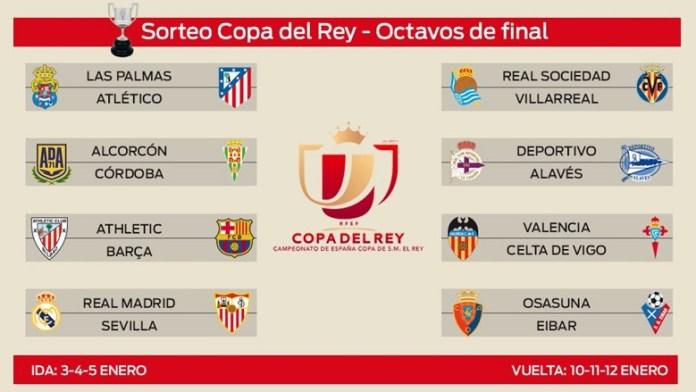 Octavos Copa del Rey 2017