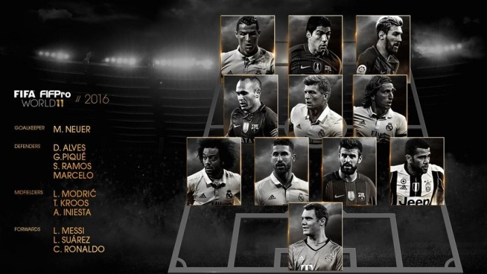 El once ideal FIFPro 2016