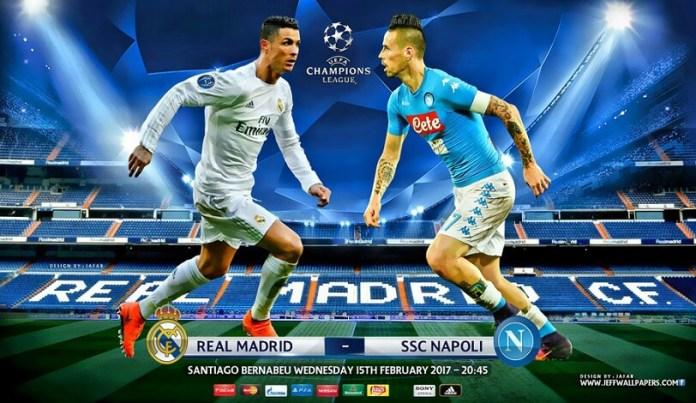 Real Madrid-Nápoles Champions League 2017