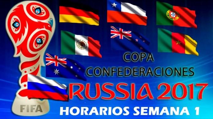 Horarios Copa Confederaciones 2017