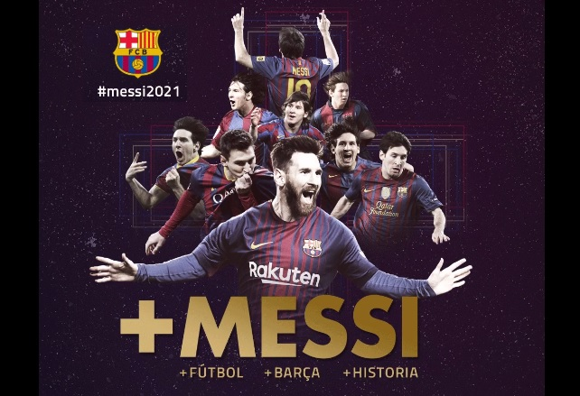 Leo Messi renueva con el FC Barcelona
