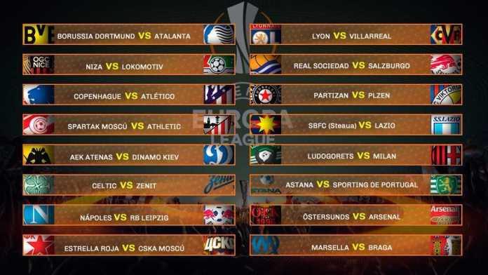 Dieciseisavos Europa League 2017-2018