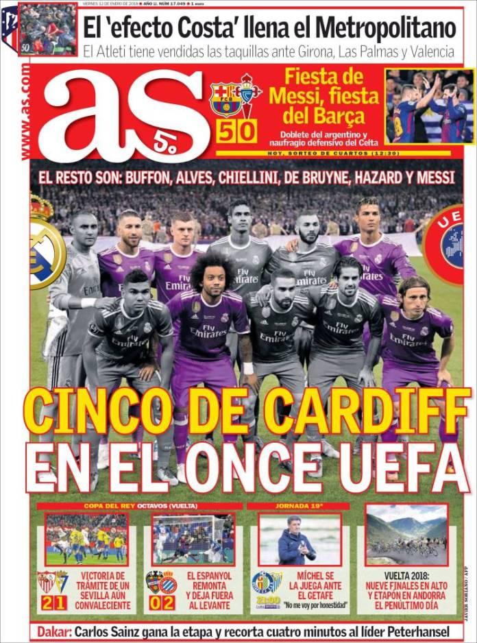 el Once UEFA 2017